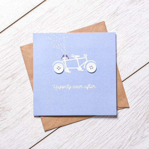 Wedding Bike Card
