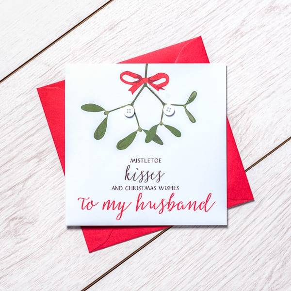 Happy Christmas Husband Card