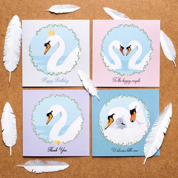 Swan Birthday Card