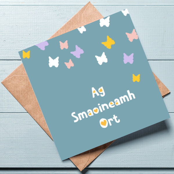Ag smaoineamh ort -  Irish Thinking of You Card