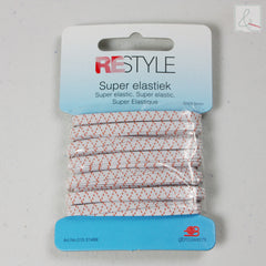 Elastiek 4.5 mm wit - € 1,95