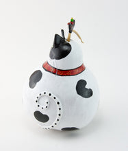 Load image into Gallery viewer, Cat Figurine - Gourd - Cow Cat - Funny Cat - Tuxedo Cat - Cattitude -Original Artwork -Whimsical Cat Art- Funny Gift - Gift for Cat Lover - Gourdaments