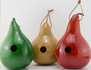 Gourd Birdhouse, Wren House, For Your Garden,  Birdlover gift - Gourdaments