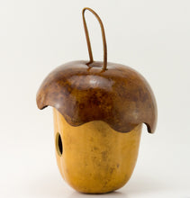Load image into Gallery viewer, Acorn Gourd Birdhouse, Cottage Birdhouse, Whimsy for your garden - Gourdaments