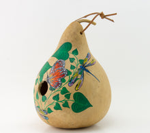 Load image into Gallery viewer, Butterfly Birdhouse - Dragonfly - Ladybug - Decoractive Gourd Art - Painted Gourd - Natural Home Decor - Gourdaments