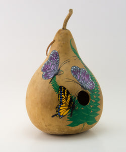 Copy of Birdhouse Gourd - Butterfly Decor - Garden Gift - Bird lover gift - Swallowtail Butterfly- Handmade - Outdoor Decorations - Painted Gourd - Gourdaments