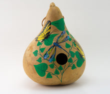 Load image into Gallery viewer, Copy of Copy of Birdhouse Gourd - Butterfly Decor - Garden Gift - Bird lover gift - Swallowtail Butterfly- Handmade - Outdoor Decorations - Painted Gourd - Gourdaments