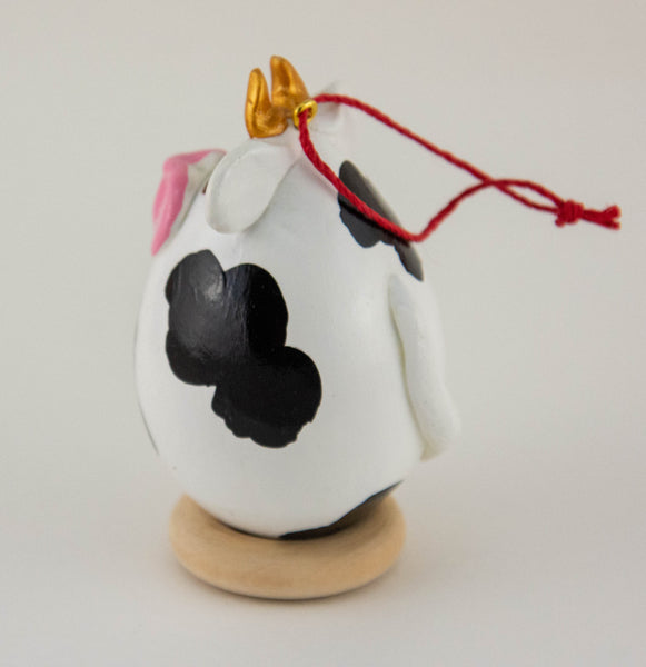 Cow Ornament - Gourdaments