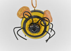 Bee Ornament Painted Gourd Art