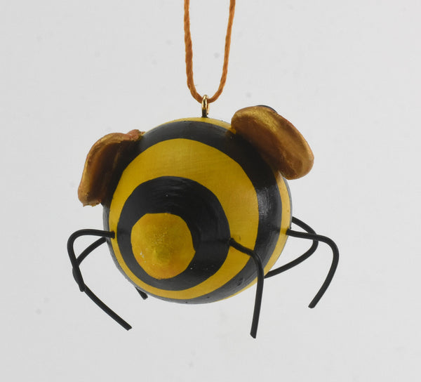Bee Ornament Painted Gourd Art - Gourdaments