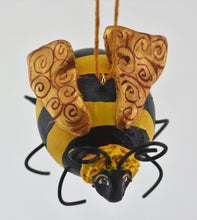 Load image into Gallery viewer, Bee Ornament Painted Gourd Art - Gourdaments
