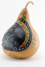 Load image into Gallery viewer, Birdhouse with Silly Cat Mouth Open Gourd Art for Garden - Gourdaments
