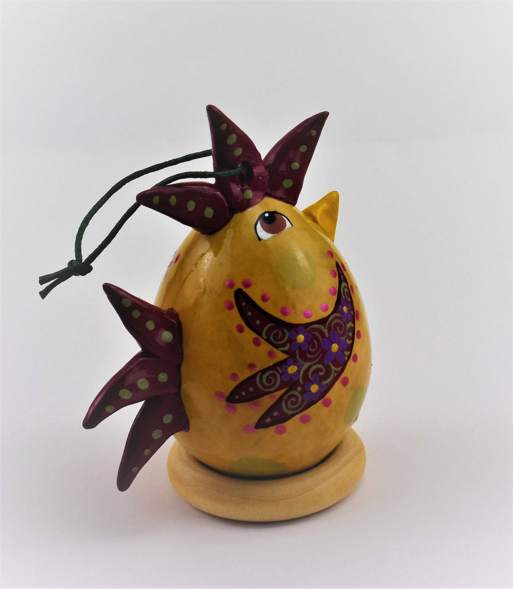 Special Edition Chicken Gourd Ornament, Fun Gift - Gourdaments