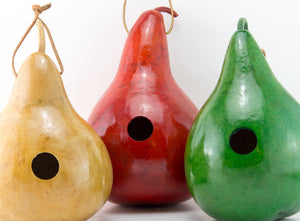 Birdhouse Gourds, Perfect for your garden,  Gourd Birdhouses, Natural Decor, Set of 3,  Wrenhouse, Birdlover Gift, Mother's Day Gift - Gourdaments