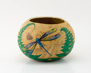 Dragonfly - Gourd Art - Gourd Bowl - Dragonfly Collector - Perfect gift - OOAK