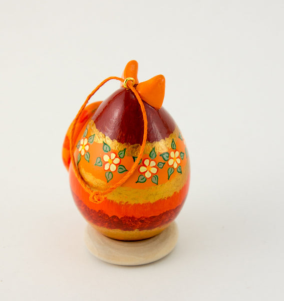 Tabby cat, Gourd Art, Ornament, Striped Tabby, Whimsical Cat, Painted Gourd, Egg Gourd, Orange Tabby, Holiday Ornament, Christmas Ornament - Gourdaments