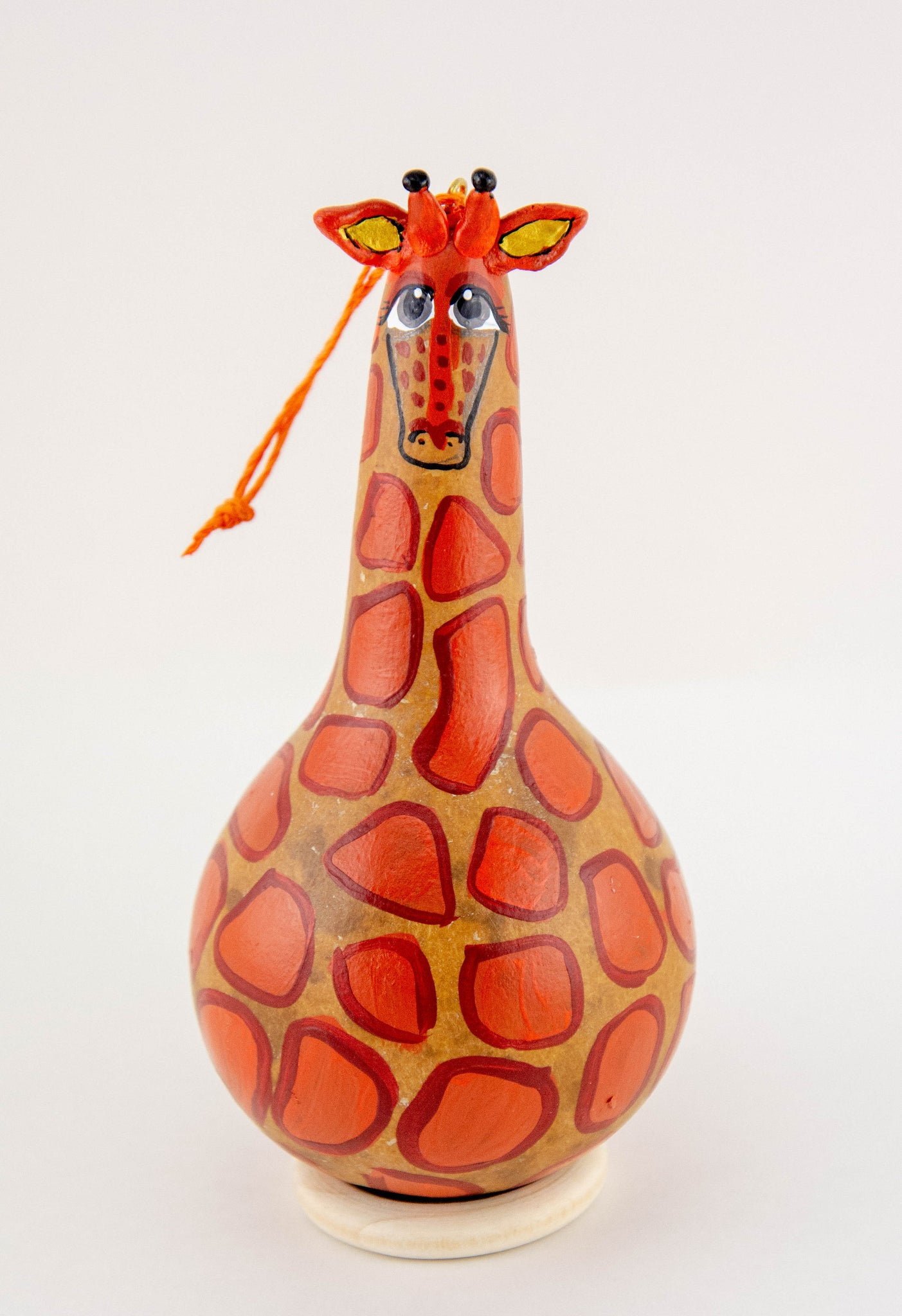 Handmade Giraffe, Christmas Ornament, Giraffe Ornament, Painted Gourd,  Hand Painted Gift, Giraffe Collection, - Gourdaments