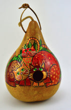 Load image into Gallery viewer, Gourd Birdhouse, Whimsical Cat,  Garden Decor, Fun Art, Gift for Cat Lover, Funny Cat Art, Crazy Cat Lady, Gift for her, Natural Decor - Gourdaments