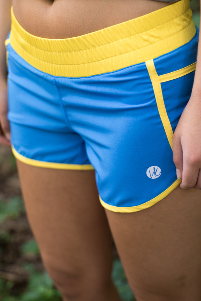 Blue/Yellow Shorts