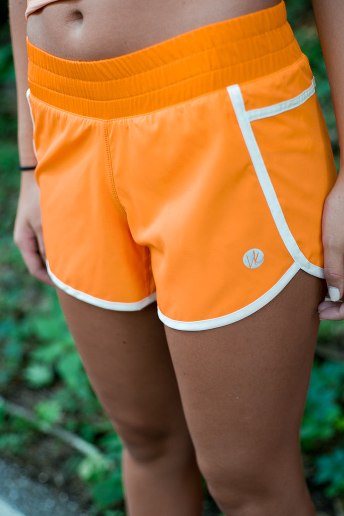Orange/White Shorts