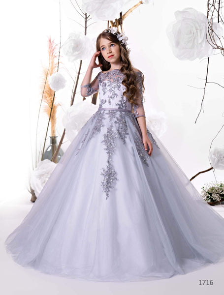 1716 Camellia Dusty flower girl dress - Mia Bambina Boutique