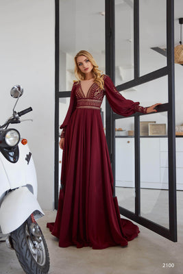 Buy 2100 Gown with long sleeves - Mia Bambina Boutique