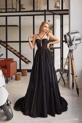 Buy 2102 Long satin Gown - Mia Bambina Boutique