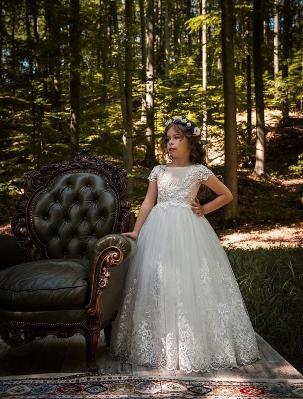 The Pampiona Flower Girl Dress For Wedding By MB Boutique Canada