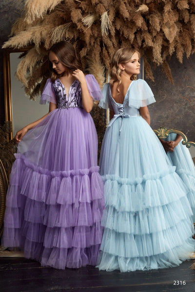 2316 Gratia Sleeveless Contrast Lace Bodice Satin Ball Gown for Flower Girls
