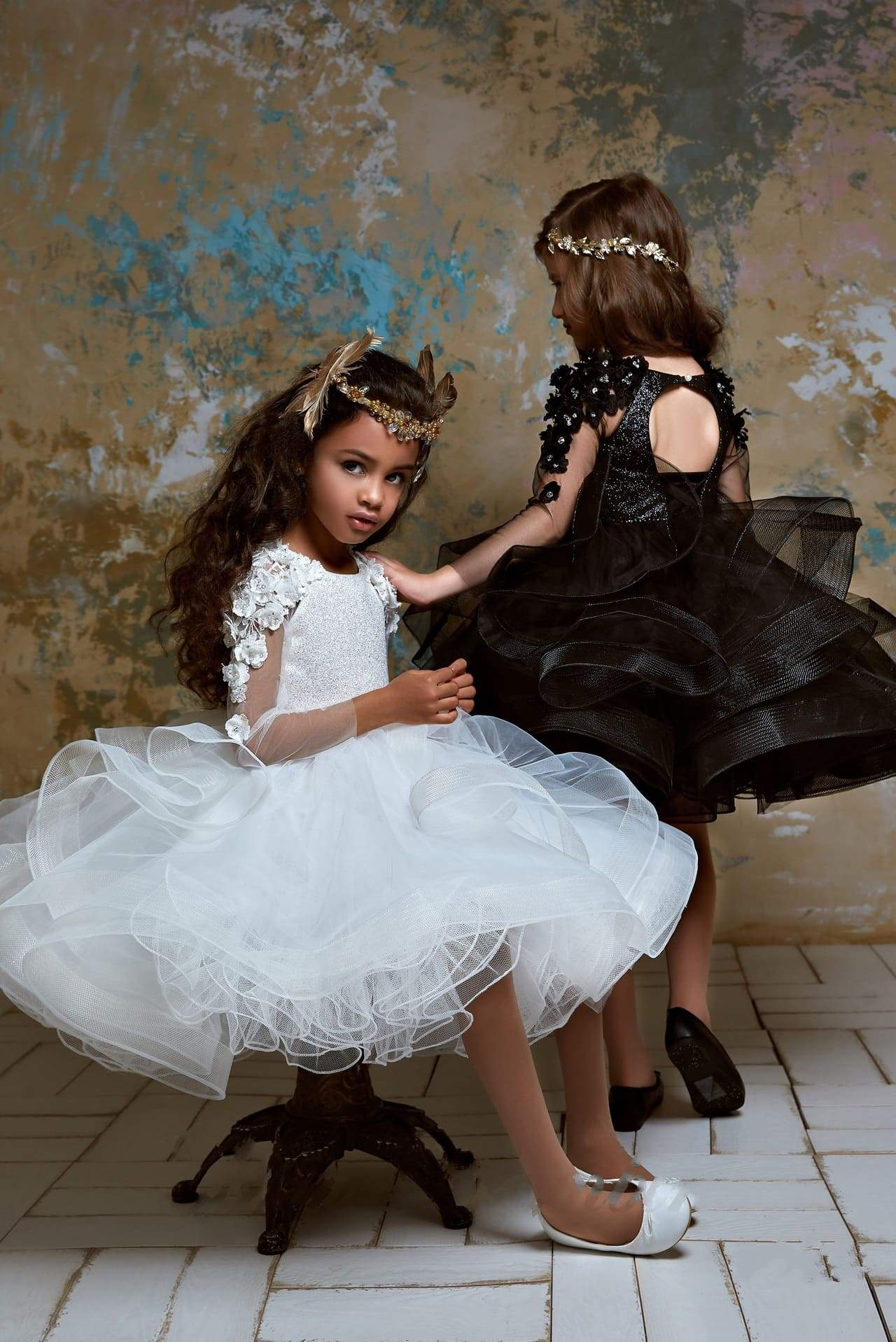 37f2b1ab58b Shop Flower Girl Dresses  Girls Couture Ruffled Tulle Tutu Dress ...