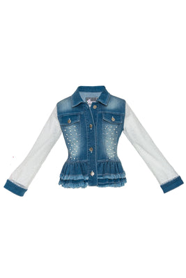 Buy Shine DENIM JACKET - Mia Bambina Boutique
