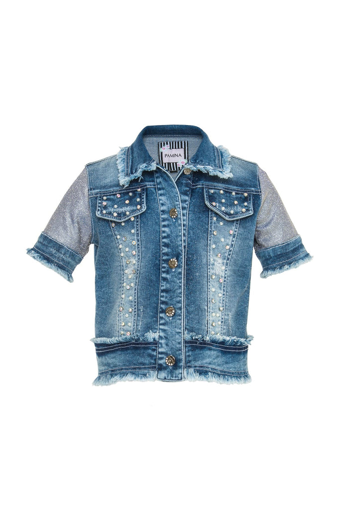 GLITTER DENIM JACKET