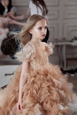 Buy 3110 Long Fluffy dress