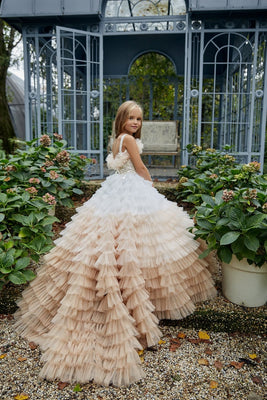 Buy AB034 Ombre Ruffled Flower Girl Dress - Mia Bambina Boutique
