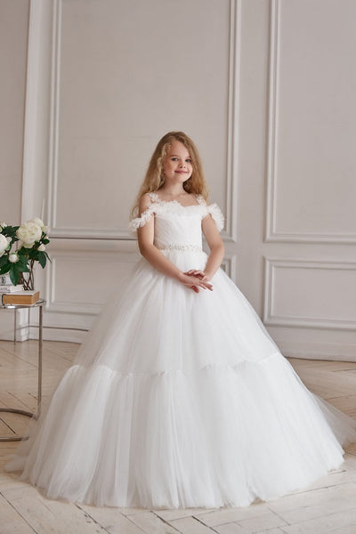 AB052 Puffy Tulle Ball Gown - Mia Bambina Boutique