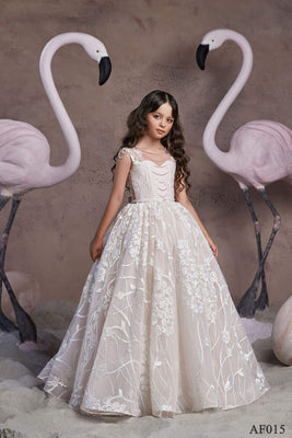 Buy AF015 Lace Communion Dress - Mia Bambina Boutique