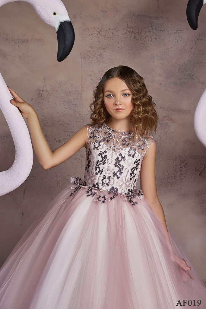 AF019 Blush Flower girl dress - Mia Bambina Boutique