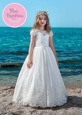 Buy An Adorable First Communion Dress in Guipure Lace - Mia Bambina Boutique