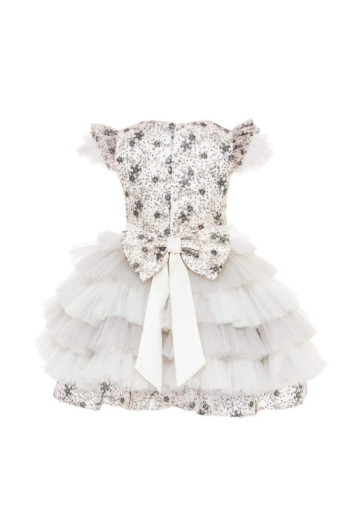 Dasha Sequined Dress with ruffled tulle skirt - Mia Bambina Boutique