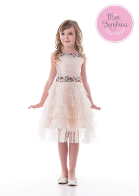Buy Gold Girls Dress - Mia Bambina Boutique
