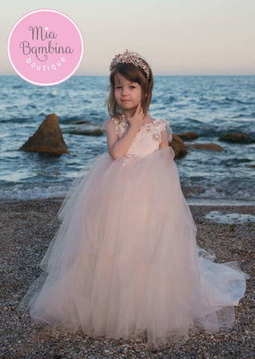 Buy Little Girl Mesh Princess Dress for Birthday or Special Event - Mia Bambina Boutique