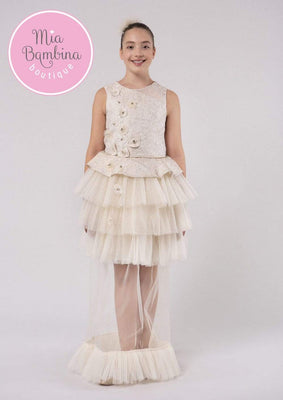 Buy Rosalie Long Over-skirted Teen Girl Dress - Mia Bambina Boutique