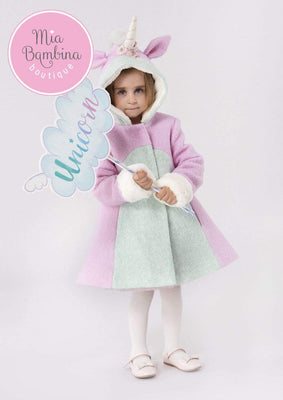 Buy Unicorn Coat for Girls - Mia Bambina Boutique