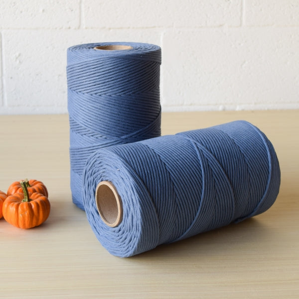 New Soft Cotton Cord for your macrame pieces in Cobalt Blue