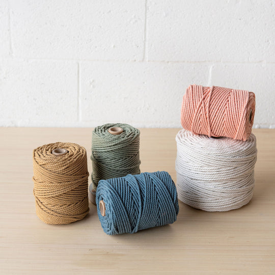 New eco-friendly cotton rope 3ply in 3mm!