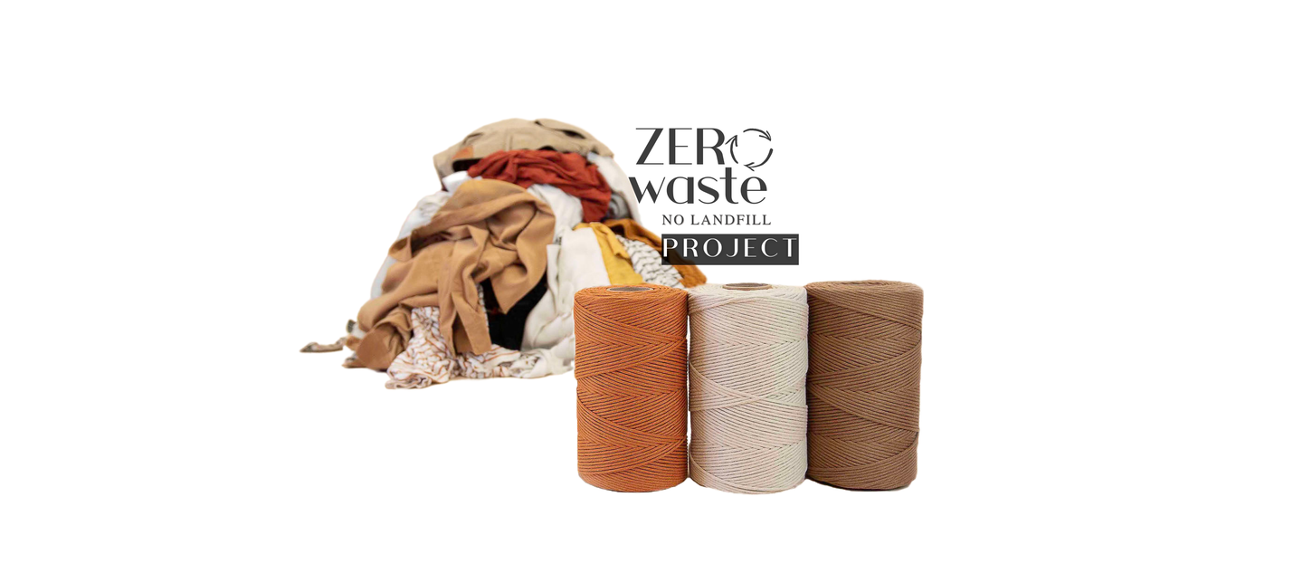 Discover how our recycled macrame cotton cord is helping to end fabric waste