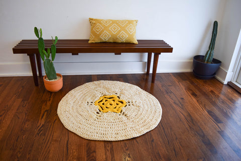 ganxxet star fabric yarn rug