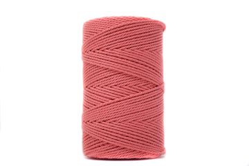 COTTON ROPE 2 MM - 3 PLY - SALMON ORANGE COLOR