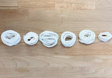 SAMPLES OF ALL OUR COTTON CORD OPTIONS