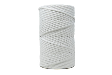 JUMBO SOFT COTTON CORD 8 MM - 1 SINGLE STRAND - WHITE COLOR